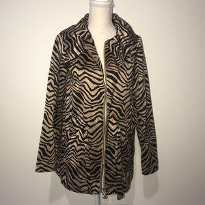 Dana Buchman Animal Print Jacket Size Small